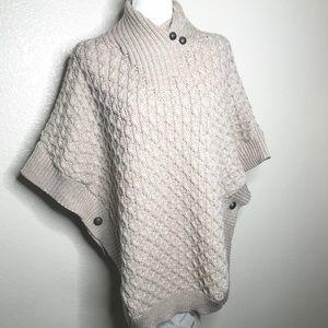 Aran Mor Ireland 100% Merino WoolPoncho Sweater